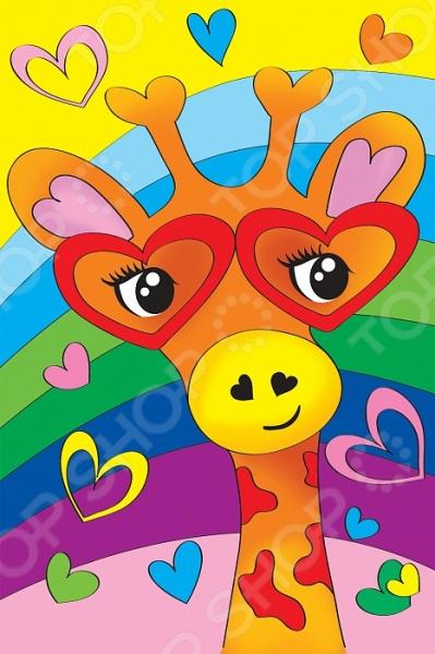 Набор для росписи по холсту Росмэн «Влюбленный жираф»