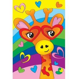 Купить Набор для росписи по холсту Росмэн «Влюбленный жираф»