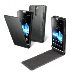 фото Чехол Muvit Slim Flip для Sony Xperia S. Цвет: черный