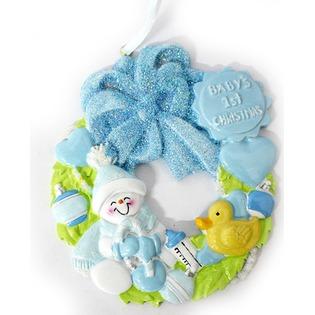 Купить Елочное украшение Crystal Deco «Венок для малыша»