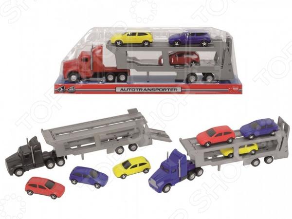 Набор машинок игрушечных Dickie «Трейлер с 4 машинками» игрушка dickie toys набор машинок 3745000