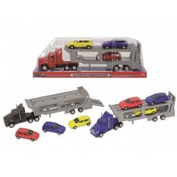 Купить Набор машинок игрушечных Dickie «Трейлер с 4 машинками». В ассортименте