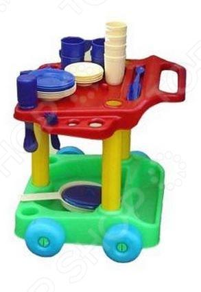 Игровой набор для девочки Совтехстром «Сервировочный столик с набором посуды»