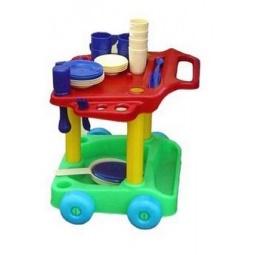фото Игровой набор для девочки Совтехстром «Сервировочный столик с набором посуды»