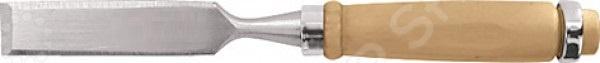 Стамеска КУРССтамески. Резцы<br>Стамеска КУРС столярный инструмент, используемый для резьбы по дереву, зачистки пазов и снятия фасок. Лезвие стамески выполнено из инструментальной стали, имеет прямоугольную форму и специальный угол заточки. Эргономичная деревянная рукоятка обеспечивает надежный захват инструмента во время работы.<br>