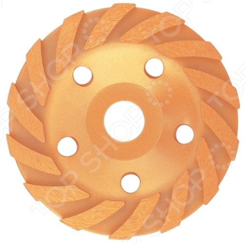 Чашка зачистная алмазная MATRIX 72988Насадки для шлифования, полировки, чистки<br>Чашка зачистная MATRIX 72988 предназначена для обработки материалов из бетона, гранита и камня. В рабочей части представленной модели турбо-сегмент имеются вкрапления из синтетических алмазов, что увеличивает эффективность и скорость рабочего процесса. Благодаря оптимальному размеру инструмента, у вас есть возможность осуществлять работу в самых труднодоступных местах.<br>
