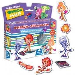 фото Игра развивающая на магнитах Vladi Toys «Фикси-мир. Предметы»
