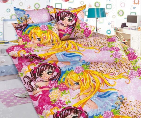 цена Детский комплект постельного белья Бамбино «Подружки» онлайн в 2017 году