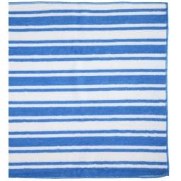фото Салфетка чистящая с абразивным покрытием Rainbow home «Разноцветная полоска». Цвет: голубой, белый