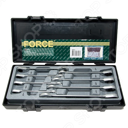 Набор ключей трещоточных Force F-50812 набор мультипликатор ручной с воротком force f 6031