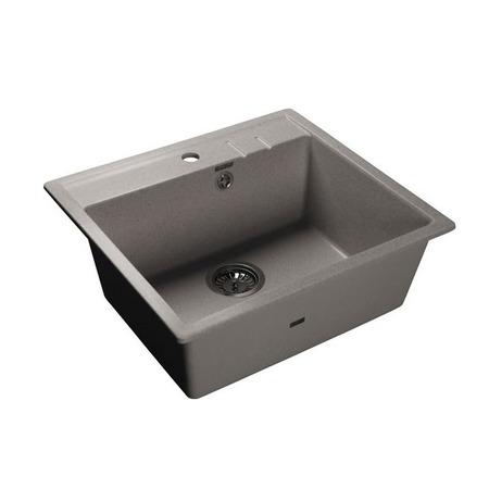Купить Мойка кухонная GranFest Quadro GF-Q560. Цвет: серый