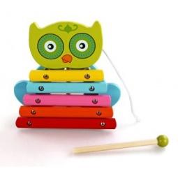 фото Игрушка музыкальная для ребенка Mapacha «Ксилофон Совенок»