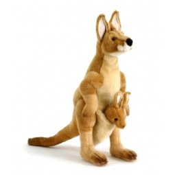 фото Мягкая игрушка для ребенка Hansa «Кенгуру» 2901
