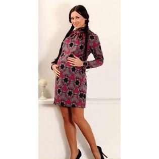 Купить Платье для беременных Nuova Vita 2106. Цвет: серый, малиновый