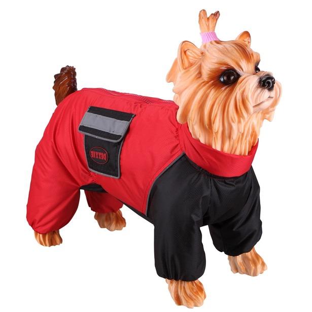 фото Комбинезон-дождевик для собак DEZZIE «Французский бульдог». Материал подкладки: нет. Пол: кобель