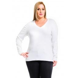 фото Джемпер Mondigo XL 9131. Цвет: белый. Размер одежды: 48