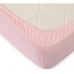 фото Простыня ТексДизайн на резинке. Цвет: розовый. Размер простыни: 60х120 см