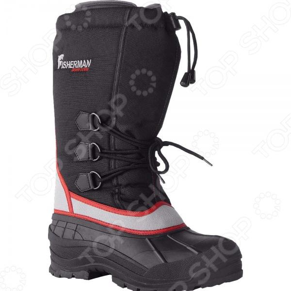 Сапоги для рыбалки зимние NOVA TOUR Хогот предназначаются для использования в зимний период и способны защитить своего хозяина от морозов до -35 C. В обуви имеется специальный носок, который эффективно отводит влагу и создает эффект защиты от нежелательного теплового обмена с окружающей средой. Кроме того, для повышения удобства во время ходьбы и защиты от попадания снега в обувь были предусмотрены несколько различных уровней регулировки. Сапоги выполнены из морозостойкой резины с надставкой из полиэстера, а вкладыш представляет собой носок из мембранной ткани с синтетическим утеплителем. Отличительной особенностью модели стал особый рисунок подошвы, который был разработан специально для предотвращения скольжения при ходьбе по льду.