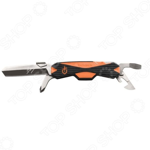 Нож складной Gerber Bear Grylls Greenhorn ToolТуристические и складные ножи<br>Нож складной Gerber Bear Grylls Greenhorn Tool надежный инструмент из эксклюзивной серии Беара Гриллса. Основные черты этого ножа легкость и безопасность использования. Мультитул содержит следующие инструменты:  острое лезвие прямой заточки с тупым острием длиной 5,85 см;  крестовидная и плоская отвертки;  ключ для открывания консервов;  ключ для открывания бутылок;  съемный миниатюрный пинцет;  съемная миниатюрная керамическая шпажка для проделывания отверстий.<br>