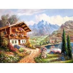 Купить Пазл 2000 элементов Castorland «Дом в горах»