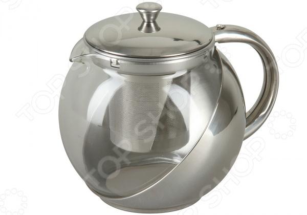 Чайник заварочный Rosenberg RSG-250001-LЧайники заварочные<br>Чайник заварочный Rosenberg RSG-250001-L из нержавеющей стали и термостойкого боросиликатного стекла. Посуда из стекла позволяет максимально сохранить полезные свойства и вкусовые качества воды. Прозрачные стенки чайника придают ему эстетичности на столе. Внутренний съемный фильтр можно поменять. Заварите крепкий, ароматный чай в представленном чайнике, и вы получите заряд бодрости, позитива и энергии на весь день! Классическая форма и универсальная цветовая гамма изделия позволят наслаждаться любимым напитком в атмосфере еще большей гармонии, эмоциональной наполненности и добавят нотку романтичности.<br>
