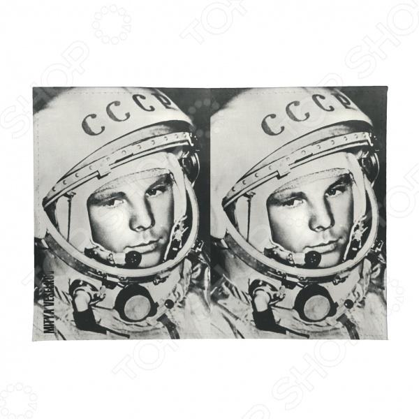 Обложка для паспорта двухсторонняя Mitya Veselkov «Гагарин» MM-77 обложка для автодокументов кожаная mitya veselkov гагарин