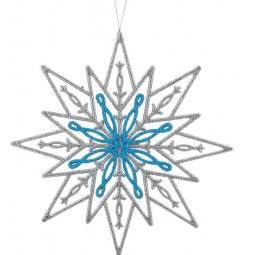 фото Украшение-подвес новогоднее Феникс-Презент 34997 «Снежинка»