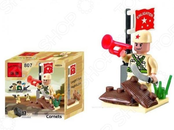 Конструктор игровой Brick Cornets 1717104Игровые конструкторы<br>Конструктор игровой Brick Cornets 1717104 прекрасный подарок для юного конструктора! Комплект содержит детали, с помощью которых можно собрать баррикаду с солдатом. Игровой набор не только обучает и развлекает, но и помогает развивать моторику рук, логическое мышление и воображение ребенка. Все детали выполнены из нетоксичных материалов, поэтому полностью безопасны. Рекомендуется для детишек от 6 лет и старше.<br>