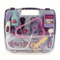 фото Игровой набор для ребенка Shantou Gepai «Набор доктора в чемодане». Цвет: розовый, фиолетовый