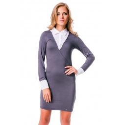 фото Платье Mondigo 8523. Цвет: темно-серый. Размер одежды: 42