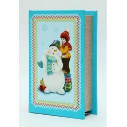 фото Шкатулка декоративная Феникс-Презент 38476 «Снеговик и мальчик»