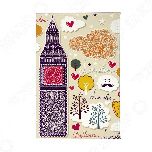 Обложка для паспорта Mitya Veselkov «Влюбленный Лондон» как дешевые билеты в лондон