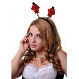 фото Головной убор маскарадный Accessories «Антенки. Черепки»
