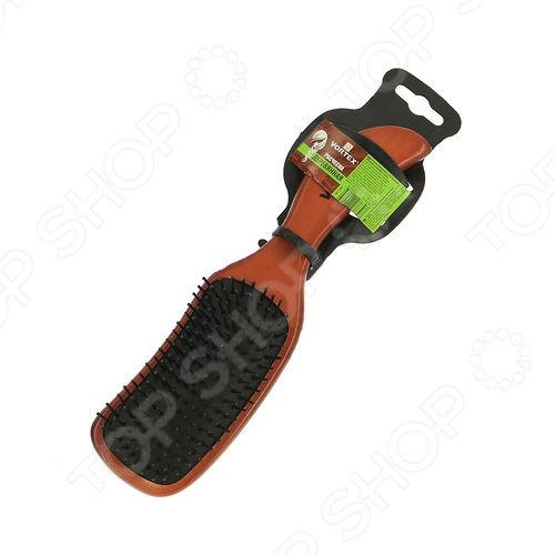 Расческа массажная Vortex «Волна»Расчески. Щетки<br>Расческа массажная Vortex Волна прекрасный аксессуар, который позволит вам бережно и тщательно ухаживать за вашими волосами. Удобная круглая расчеса оснащена не только пластиковыми зубчиками. С её помощью вы сможете не только расчесать волосы, но и сделать мягкий массаж головы. Эта простая процедура обеспечивает необходимый прилив крови к волосяным луковицам, что стимулирует питание и рост волос. Основа расчески изготовлена из полированного дерева. Чтобы не повредить кожу головы, пластиковые зубья защищены миниатюрными закругленными насадками.<br>