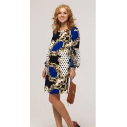 Купить Платье для беременных Nuova Vita 2140.02. Цвет: синий