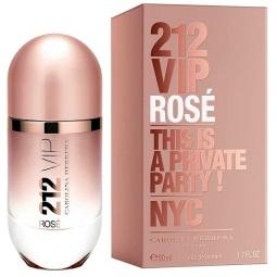 Купить Парфюмированная вода для женщин Carolina Herrera 212 Vip Rose. Объем: 50 мл
