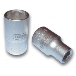 """фото Головка торцевая Brigadier шестигранная с профилем Super Lock 3/8"""". Размер: 16 мм"""