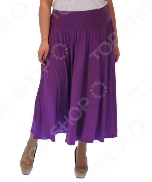 Юбка Матекс «Изабелина». Цвет: сиреневыйЮбки<br>Юбка Матекс Изабелина прекрасная вещь для создания легкого женственного образа, которая идеально впишется в весенне-летний гардероб благодаря свободному крою и приятному материалу. Удобная юбка сделана из легкой ткани, поэтому прекрасно подойдет для повседневного использования.  Юбка фасона солнце с удобным поясом на широкой резинке.  Предусмотрено два небольших боковых кармана.  Сшито из ткани, состоящей на 95 из вискозы и на 5 из полиэстера.<br>