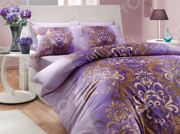 Комплект постельного белья Hobby Home Collection Almeda. Цвет: фиолетовый. 2-спальный2-спальные<br>Спокойный и здоровый сон для человека также жизненно необходим, как и свежий воздух, ведь именно выспавшись, вы полны новых идей и сил для их реализации. Но возможен ли приятный сон на твердой кровати или некачественном постельном белье Конечно же, нет. Именно поэтому мы с гордостью представляем загадочный, фантастически красивый и роскошный комплект постельного белья от производителя Hobby.  Hobby Almeda это постельное белье нового поколения , предназначенное для молодых и современных людей, желающих создать модный интерьер спальни и сделать быт более комфортным. Комплект изготовлен из ранфорса, который по тактильным ощущениям напоминает бязь. Этот материал идеально поддерживает естественный температурный баланс тела. Ткань подстраивается под температуру воздуха, поэтому зимой на таком белье тепло, а летом прохладно. Ранфорс легко впитывает влагу, оставаясь при этом сухим на ощупь. Яркий цвет и высокое качество продукции гарантируют, что атмосфера вашей спальни наполнится теплотой и уютом, а вы испытаете множество сладких мгновений спокойного сна. При изготовлении постельного белья Hobby используются устойчивые гипоаллергенные красители. Почему стоит выбрать постельное белье от бренда Hobby  Изготовлено из экологически чистого, гипоаллергенного материала.  Отличается высокой гигроскопичностью и хорошо пропускает воздух.  Дополнено дизайнерским рисунком, который оживит помещение.  Легко в уходе, не выцветает даже после множества стирок.  Ткань имеет 57 переплетений нитей на 1 см2. В качестве сырья для изготовления данного комплекта постельного белья использованы нити хлопка. Натуральное хлопковое волокно известно своей прочностью и легкостью в уходе. Волокна хлопка состоят из целлюлозы, которая отлично впитывает влагу. Хлопок дышит и согревает лучше, чем шелк и лен. Поэтому одежда из хлопка гарантирует владельцу непревзойденный комфорт, а постельное белье приятно на ощ