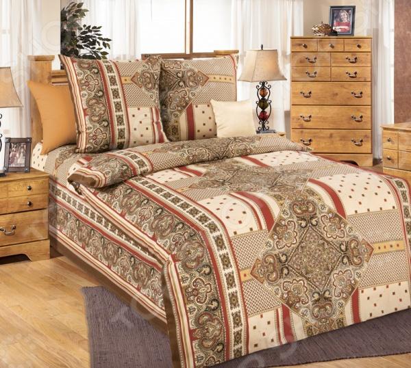 Комплект постельного белья Белиссимо «Византия». 1,5-спальный1,5-спальные<br>Комплект постельного белья Белиссимо Византия это сочетание прекрасного качества и стильного современного дизайна. Он внесет яркий акцент в интерьер вашей спальной комнаты, добавит ей элегантности и изысканности. В набор входит пододеяльник, простынь и две наволочки. Постельное белье выполнено из высококачественной бязи и украшено оригинальным принтом. Бязь представляет собой плотную хлопчатобумажную ткань полотняного переплетения. Она отлично зарекомендовала себя в пошиве постельного белья, благодаря своей воздухопроницаемости, легкости и устойчивости к истиранию. Ткани и готовые изделия производятся на современном импортном оборудовании и отвечают европейским стандартам качества. Рекомендуется стирать белье в деликатном режиме без использования агрессивных моющих средств.<br>