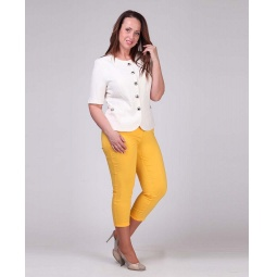 фото Брюки женские Milana Style «Элен». Цвет: желтый. Размер одежды: 54