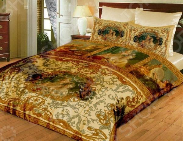 Комплект постельного белья «Мадонна». Евро. Цвет: золотой