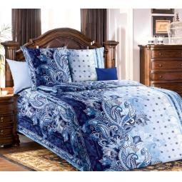 фото Комплект постельного белья Белиссимо «Очертание». 1,5-спальный. Цвет: синий