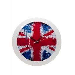 фото Часы настенные Mitya Veselkov «Британский флаг в краске»