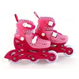 фото Роликовые коньки детские Moby Kids 2в1. Цвет: розовый. Размер: 34-37