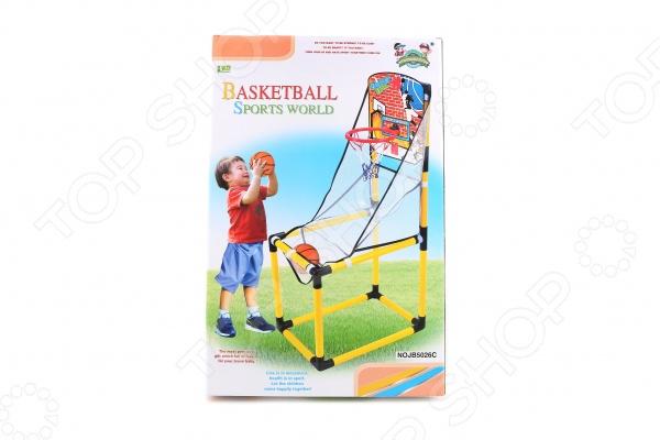 Набор баскетбольный 1 Toy Т58539Аксессуары баскетбольные<br>Набор баскетбольный 1 Toy Т58539 прекрасно подойдет для юных любителей этой захватывающей игры, развивающей координацию движений, меткость и укрепляющей мышцы. В комплект входит баскетбольный щит с сеткой, который можно прикрепить к любой ровной поверхности, и баскетбольная стойка. Предназначено для детей в возрасте от 3-х лет.<br>