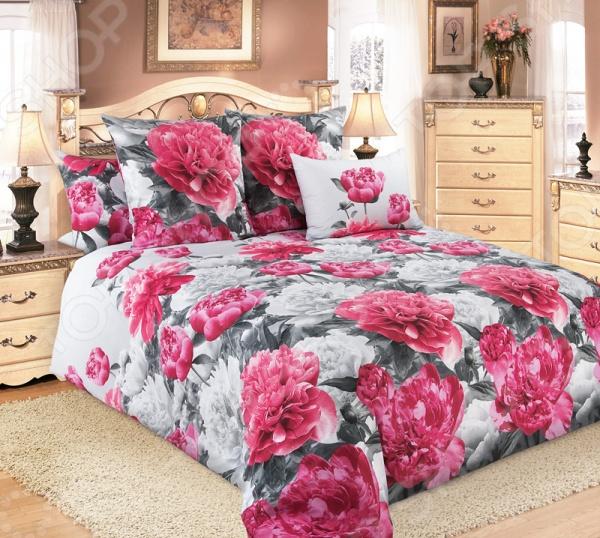 Комплект постельного белья Белиссимо «Пионы» 1708825 комплект белья белиссимо пионы 2 спальный наволочки 70х70 цвет серый розовый 2100б