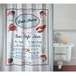 фото Штора для ванной Spirella Crab Snack