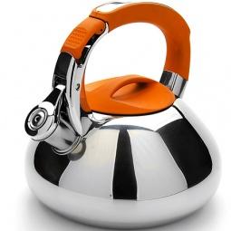 фото Чайник со свистком Mayer&Boch Rounded Bottom. Цвет: оранжевый