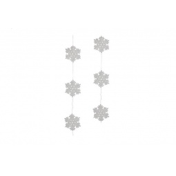 фото Гирлянда декоративная Christmas House «Снежинки»